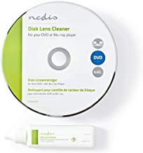 NEDIS Disc Lens Cleaner Blu-ray, DVD & CD-ROM Lens Cleaner Disk with Ultra-Thin Brush..