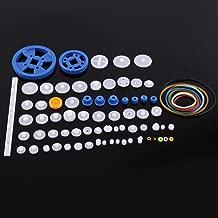 Plastic Gears Set Pulley Belt Worm Kits Crown Gear Set Robot Motor Car Toy for DIY Parts (80kinds)