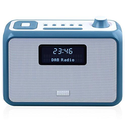 August MB400 - Radio DAB/DAB+ con Altavoz Bluetooth NFC, Alarma y Radio FM - Radio portátil con reproductor MP3 - Puerto USB / Lector de tarjetas SD y Entrada auxiliar (Blanco)