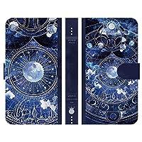 ブレインズ AQUOS zero 手帳型 ケース カバー 月時計 よう 月 時計 宇宙 星 wonder collection デザイナーズ 絵画