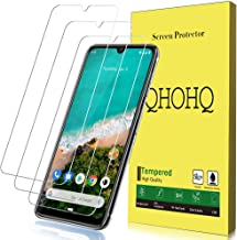 [3-Pack] QHOHQ Screen Protector for Xiaomi Mi A3,[9H Hardness] HD Transparent Scratch-Resistant [Bubble Free] Tempered Glass