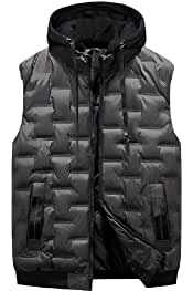 Gocgt Mens Warm Sleeveless Vest Jacket Zipper Waistcoat