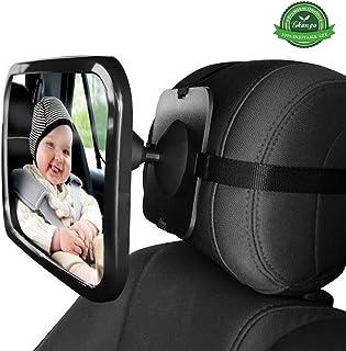 DaoRier R/ücksitzspiegel Babyspiegel Auto f/ür Baby Kindersitz Babyschale Autospiegel Universeller Passform Runden Form gro/ßer Spiegel 2 St/ück
