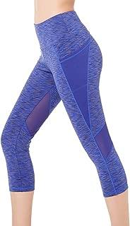 Women's Yoga Pants High Waist Workout Capri Leggings Sports Running Active Tights w Side Pocket