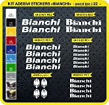 Pimastickerslab Bianchi Aufkleber, für das Fahrrad, Farbe wählbar, 22 Stück, Artikelnummer 0087,...