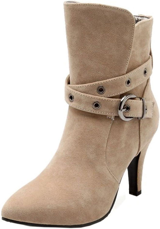 FANIMILA Women Fashion Stiletto Ankle Boots