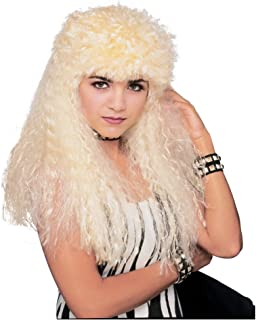 Costume Curly Blond Mullet Wig