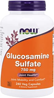 NOW Supplements, Glucosamine Sulfate 750 mg, with UL Dietary Supplement Certification, 240 Capsules