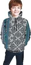 YongColer Hip-Hop Pullover Hooded Sweatshirts Sports Outwear for Boys Girls Teens Junior