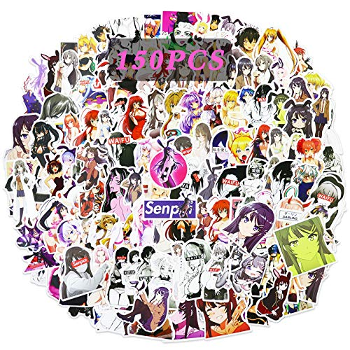 Bunny Girl Stickers 150pcs Anime Sexy Girls Vinyl Stickers for Adult Teens Laptop Cars Skateboard Water Bottle Decals Woman Stickers