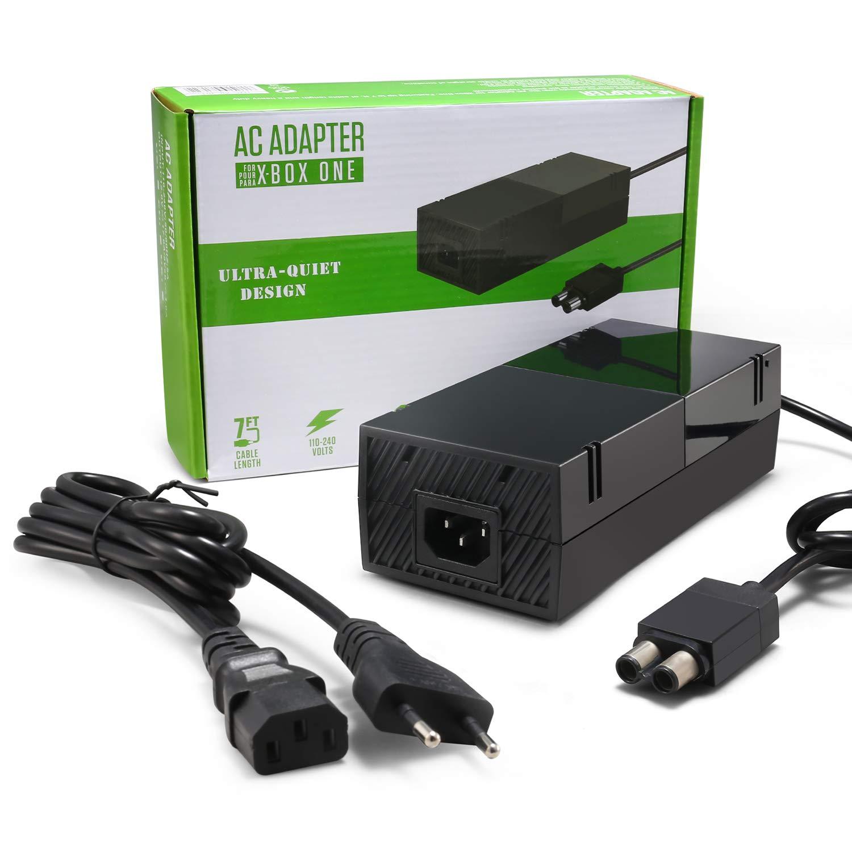 IDESION Fuente de alimentación eléctricade Xbox One Kit de Reemplazo del Cable de CA Adaptador de corriente Bloque de cargador para la consola Xbox Auto Voltaje 100-240V: Amazon.es: Videojuegos