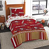 The Northwest Company NFL San Francisco 49ers Rotary Full Bed in Bag Set, 78' x 86', Multicolor