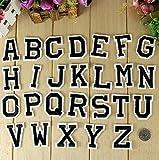 Parches para planchar con letras del alfabeto negras de...