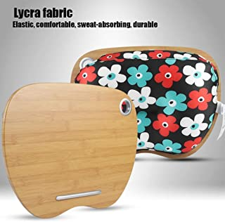 Laptop Desk with Cushion, 2 in 1 Portable Lap Desk Stand Notebook Cushion Pillow Home Office with Cable Hole (#1)