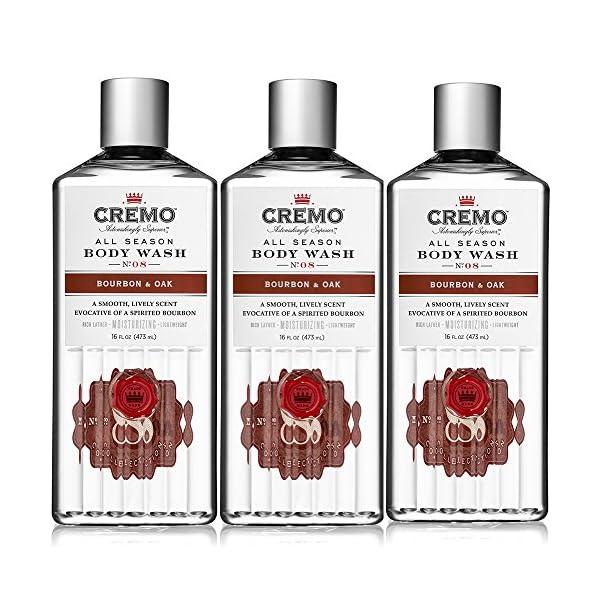 Cremo All Season Body Wash, Bourbon & Oak, 16 Ounce (Pack of 3) 1