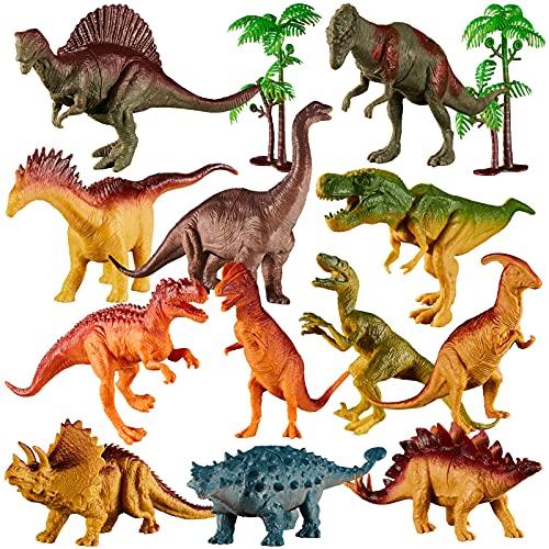 TOEY PLAY Dinosaurios Figuras Realistas 14 Piezas Juguetes Regalo para Niños Niñas Infantiles 3 4 5 6 Años