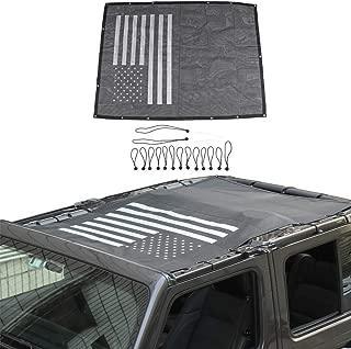 American Flag Sun Shade Mesh Bikini Top Sunshade UV Protection for 2018 2019 Jeep Wrangler JL JLU 4 Door