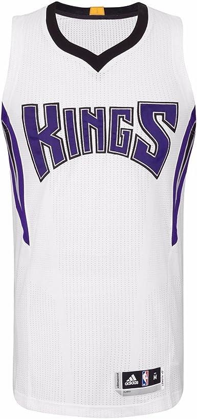 Amazon.com : adidas Sacramento Kings NBA White Authentic On-Court ...