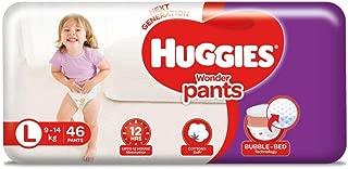 Huggies Wonder Pants Diapers, Large (Pack of 46)