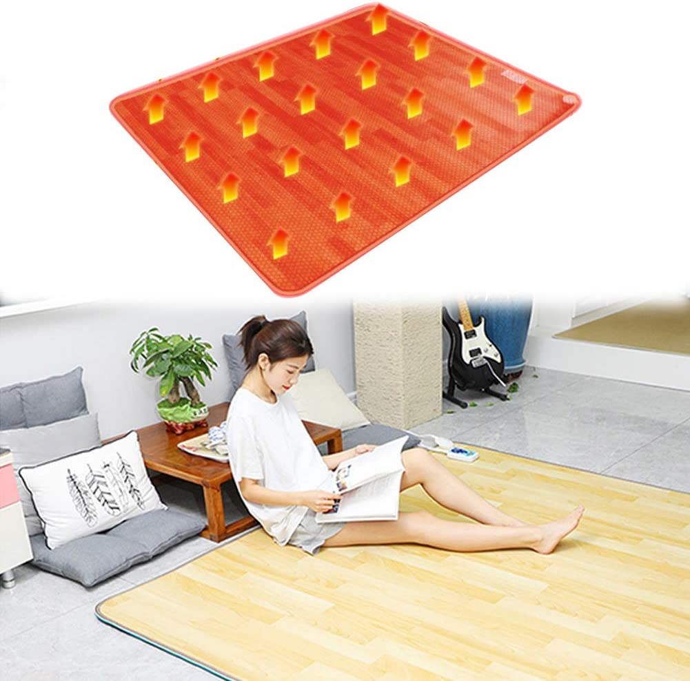 Electric Heating Carpet Floor Heater Carbon Under-Rug Classic Blanket Recommended