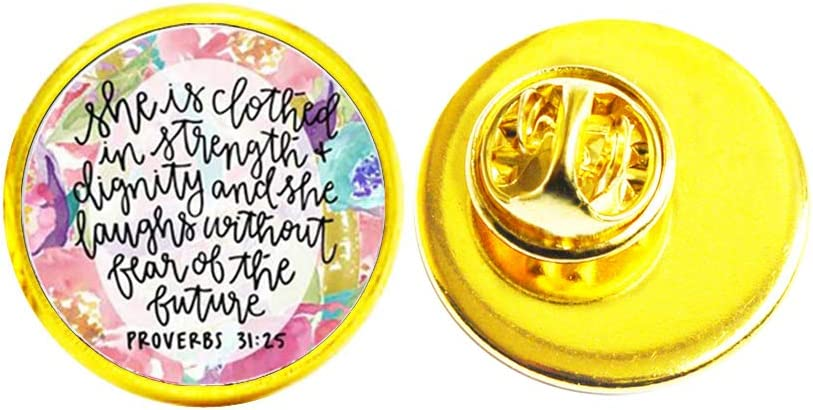 Weekly update Bible Verses Brooch Glass Cabochon Ch Scripture Pin High quality Quote