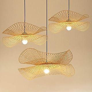 Vintage Bamboe Geweven Hanglamp Land Bamboe Geweven Lamp Handgeweven Hanglamp E27 Natuurlijke Bamboe Eetkamer Woonkamer Ga...