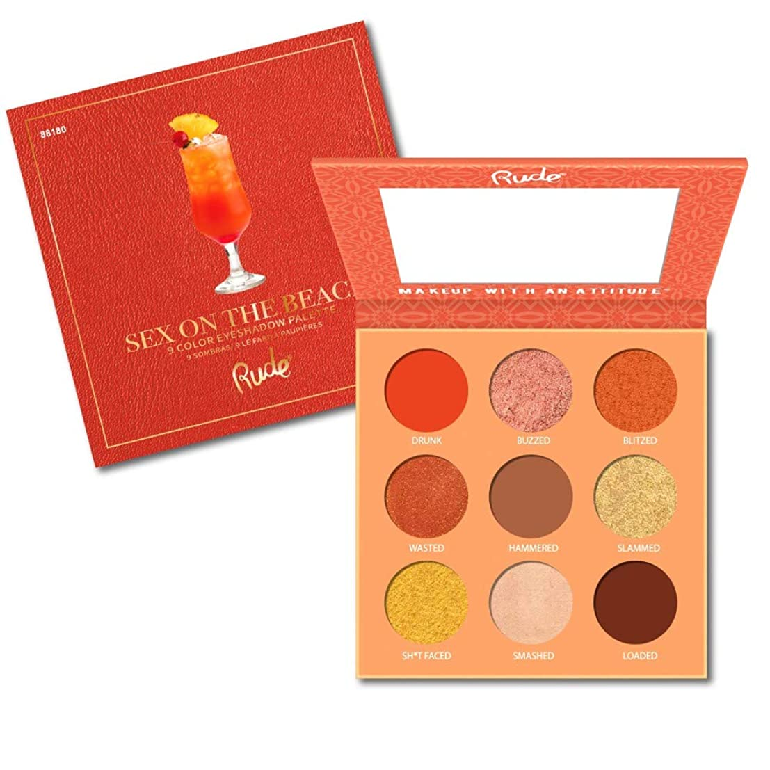 業界黙平らな(6 Pack) RUDE Cocktail Party 9 Color Eyeshadow Palette - Sex on The Beach (並行輸入品)