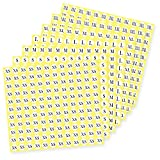 "Assorted Clothing Size Stickers, 21 Sheet Round Sizing Sticker Labels - 1/2"" Adhesive Apparel Circle Stickers All 7 Sizes (XS/S/M/L/XL/XXL/XXXL), Total 2772 Pieces"