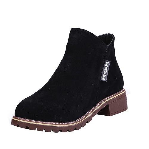 Botines para Mujer Otoño Invierno,ZARLLE Moda Botas clásicas Botines Martin Plataforma Casual Zapatos de