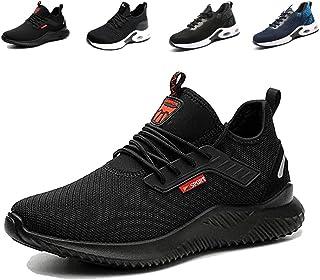 Zapatos de Seguridad Hombre Mujer Cómodos Ligeros Zapatos de Trabajo con Punta de Acero Antideslizante Calzado de Seguridad
