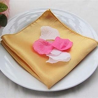 HUIHU 50 pièces 45 X 45 cm Banquet Satin Dîner Serviettes De Table De Mariage Serviettes en Tissu De Table Tapis De Poche ...