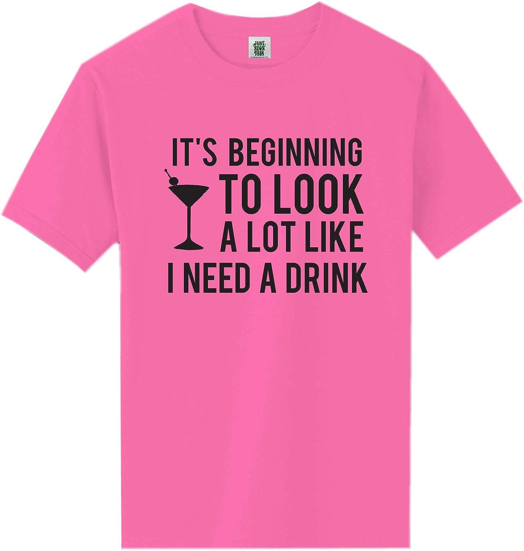 zerogravitee It's Beginning to Look A Lot Like Neon Pink Short Sleeve T-Shirt - XX-Large