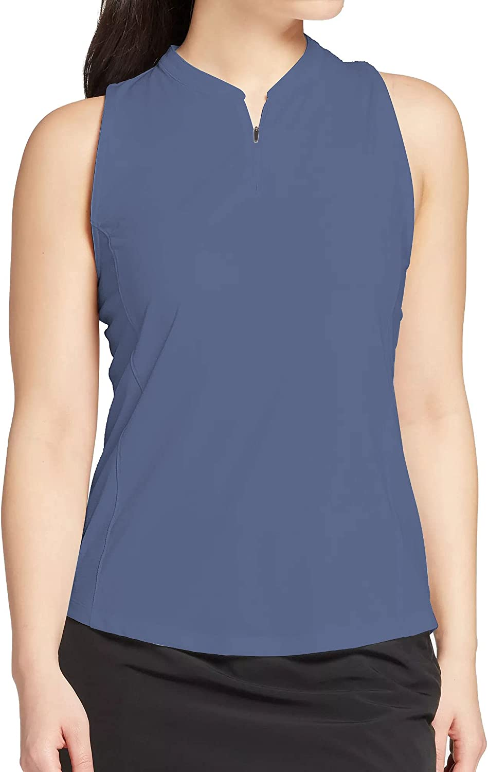 Womens Sleeveless Collarless Golf Polo Zipper Quick 2021 autumn and winter new - with Max 69% OFF Shirt