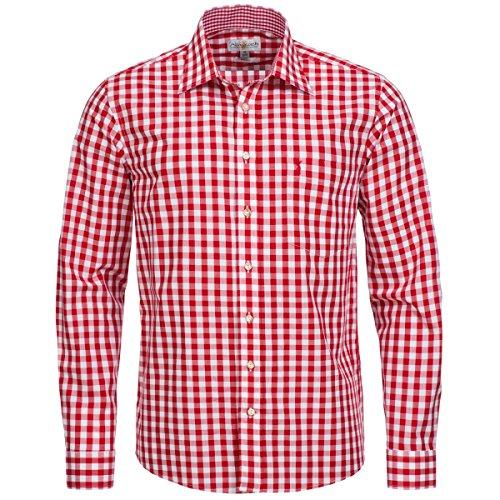 Trachtenhemd Regular Fit in Rot von Almsach, Größe:M, Farbe:Rot