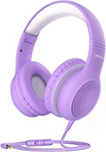 Mpow CH6 [2019 New Version] Kids Headphones Over-Ear/On-Ear, HD Sound Sharing Function Headphones for Children Boys Girls, Volume Limited Safe Foldable Headset w/Mic for School/PC (PurpleWhite)