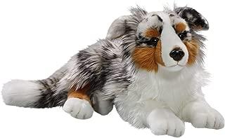 Carl Dick Australian Shepherd Dog Lying 17 inches, 43cm, Plush Toy, Soft Toy, Stuffed Animal 3434