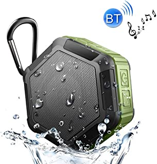 with Built-in MIC & Hook, Support Hands-Free Calls & TF Card & FM, Bluetooth Distance: 10m,Green