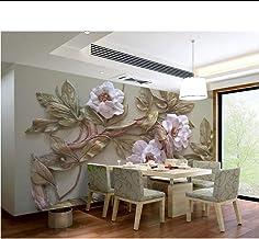 ورق جدران مخصص ثلاثي الأبعاد مطبوع عليه صورة شجرة لزهور ثلاثية الأبعاد لخلفية أريكة حائط غرفة المعيشة وغرفة النوم ورق حائط...