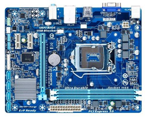 Gigabyte GA-H61M-S1 Mainboard Sockel LGA 1155 (Micro-ATX, Intel H61, 2X DDR3 Speicher, 4X SATA II, D-Sub, RJ-45, USB 2.0)