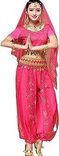 Filles Bollywood Déguisement Costume Tenue De Fête Âge 4-9 Ans Neuf