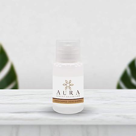 Aura Luxury Collection ® Kit flacone doccia shampoo 20 ml delicato all'Argan bianco (420)