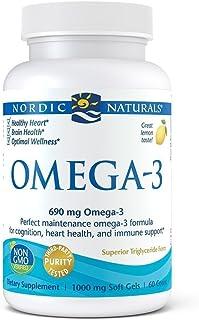 Nordic Naturals Omega-3 Formula Softgels, Lemon, 60 ct