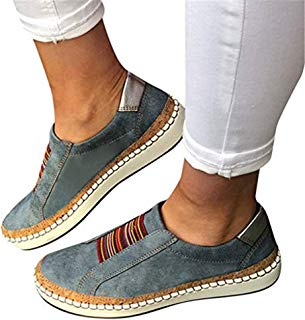TnaIolral Womens Shoes Fashion Summer Hollow-Out Round Toe Slip On Flast with Sneakers