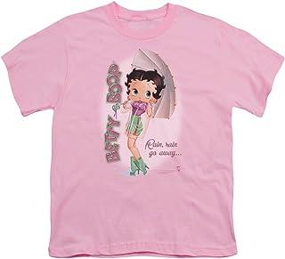 Betty Boop Rain Rain Go Away Unisex Youth T Shirt for Boys and Girls