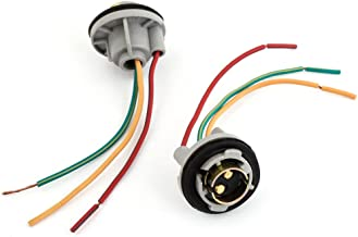 uxcell 2 Pcs 1157 BAY15D Turn Signal Brake Light Bulb Socket Wire Harness Connector