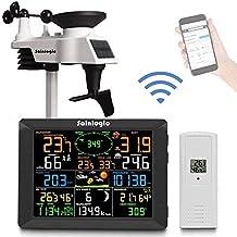 Sainlogic Professioneel wifi-weerstation, smart wifi internet, draadloos weerstation met groot 8 inch kleurendisplay en bu...