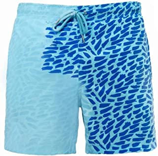 Quick Dry Bathing Swimming Trunks Swimwear Men Change Color Beach Shorts Casual Comfortable Beach Pants Temperature Board ...