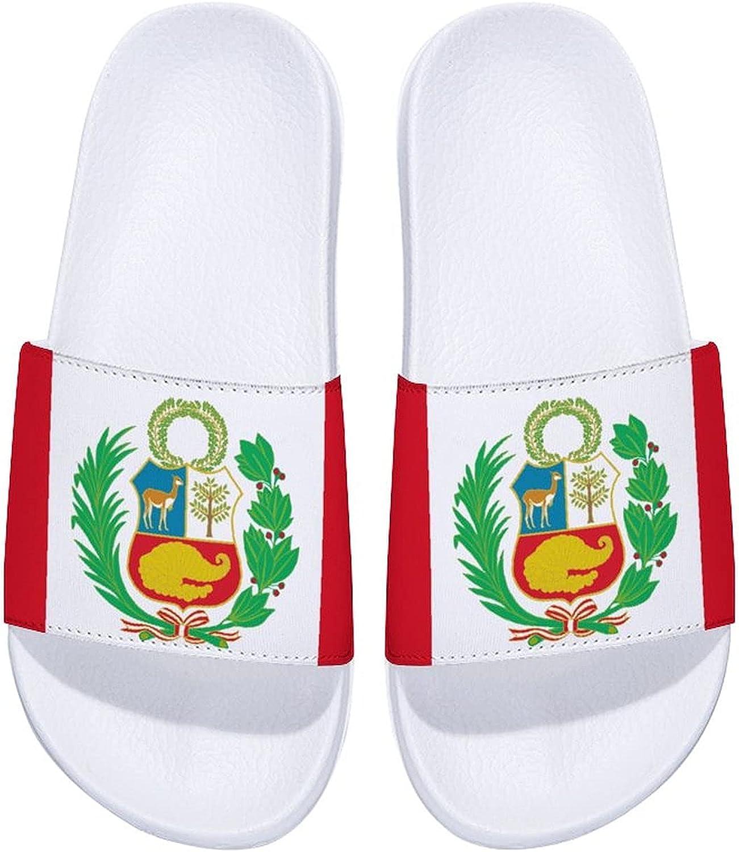 Flag of Peru-1 Men's and Women's shipfree Max 87% OFF Ou Slide Indoor Sandals Comfort