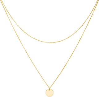 18-Karat Vermeil Chokers - Made of Gold Plated Three Delicate Chains 100% Nickel-Free