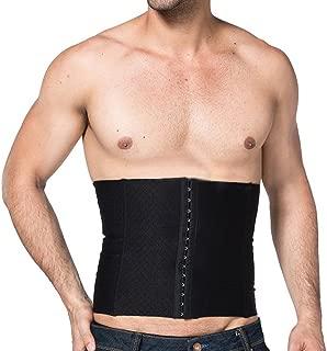 EUBUY Men's Waist Slimming Body Shaper Girdle Belt Cincher Steel Boned Waist Trainer Shaper Sports Slimming Trimmer